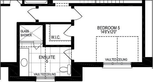 optional second floor a w/ 5bedroom